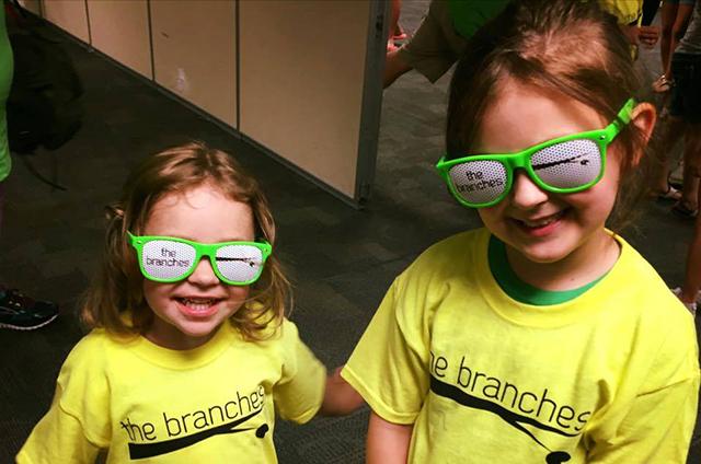 Mega Kids Camp kids rocking sun glasses