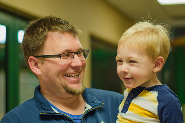 Father & Son having a good time
